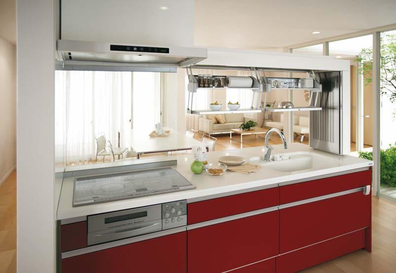 センターキッチンも多彩なレイアウトが可能!