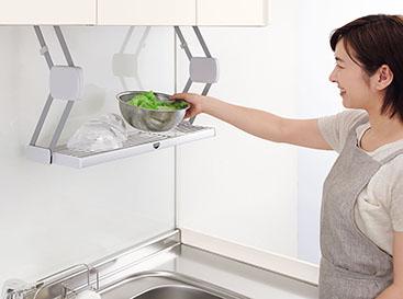 調理スペースが広く使えて作業効率がグンとアップしますよ!!!
